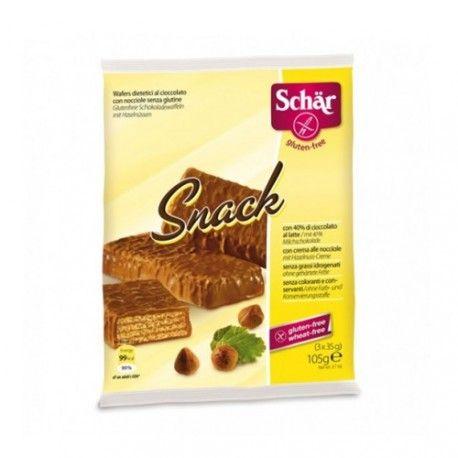 SCHAR SNACK 105 Gr.BARRITAS CHOCOLATE SIN GLUTEN