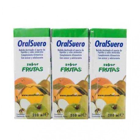 Oralsuero Sabor Frutas 200 ml. Pack de 3 Unidades