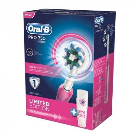 Oral-b Crossaction Pro 750 3D Pink Edición Limitada + Estuche de Viaje