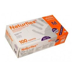 GUANTES VINILO NATURFLEX T/PÑA. 100 UND.