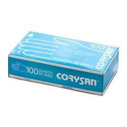 GUANTES VINILO CORYSAN T/MDA. 100 UND,