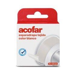 ACOFAR ESPARADRAPO TEJIDO COLOR BLANCO 5X2,5