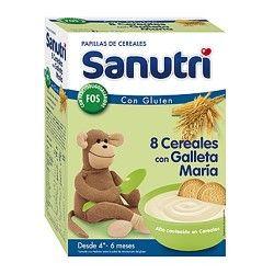 Sanutri 8 Cereales Con Galleta María Efecto Bífidus 600 gr.