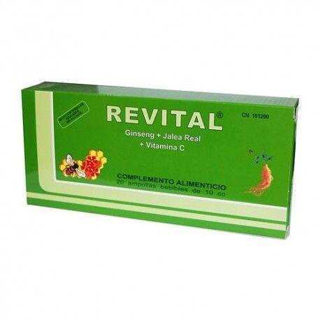 Revital Ginseng + Jalea Real + Vitamina C 20 Ampollas