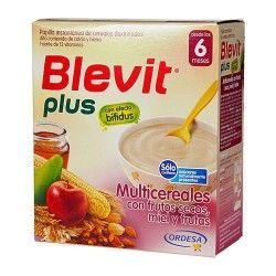 Blevit Plus Multicereales Con Frutos Secos, Miel y Frutas 600 gr