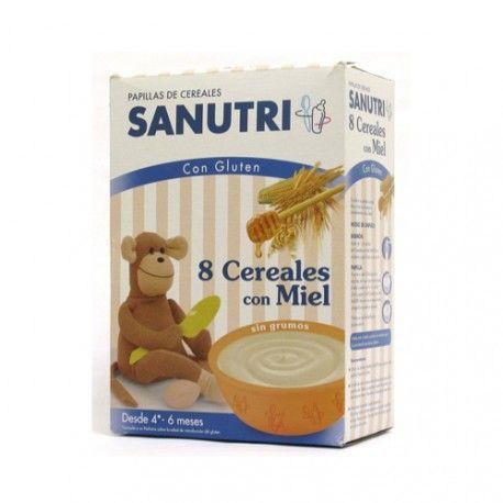 Sanutri 8 Cereales Con Miel 600 gr.