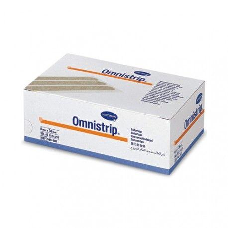 Omnistrip Tiras de Sutura Cutánea 2 Sobres x 6 Piezas de 6 x 38 mm.