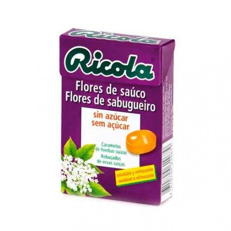 Ricola Caramelos de Flores de Saúco Sin Azucar 50 gr.