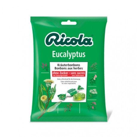 Ricola Caramelos de Eucalipto Sin Azucar Bolsa 70 gr.