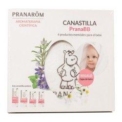 PranaBB Canastilla 4 Productos Esenciales Bebé + Capa de Baño de Regalo