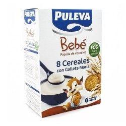 PULEVA BEBE 8 CEREALES/GALLETA MARIA FOS 600G