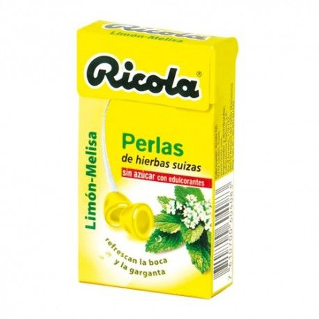 Ricola Perlas Sabor Limón-Melisa Sin Azúcar 25 gr.