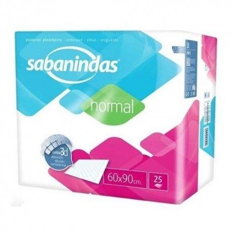 SABANINDAS NORMAL PROTECTOR CAMA 60X90 25 UD