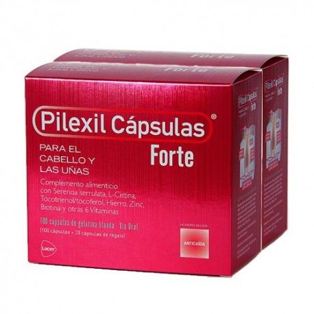 Pilexil Cápsulas Forte Duplo 2 x 100 Cápsulas