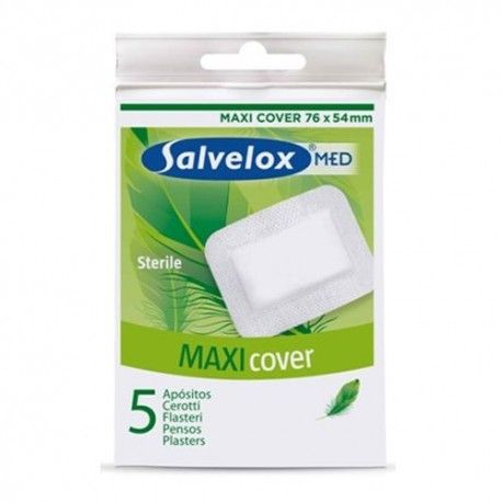 SALVELOX MAXI COVER 5U ANTIBACTERIAS 76X54MM