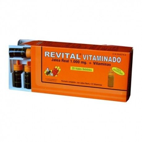 Revital Vitaminado Jalea Real + Vitaminas 20 Ampollas Bebibles