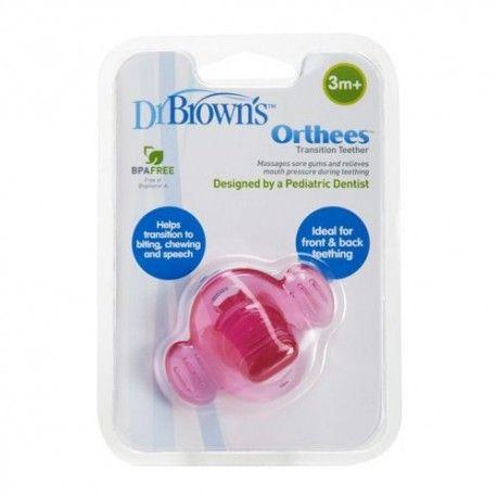Dr. Brown's Orthees Mordedor de Transición Rosa