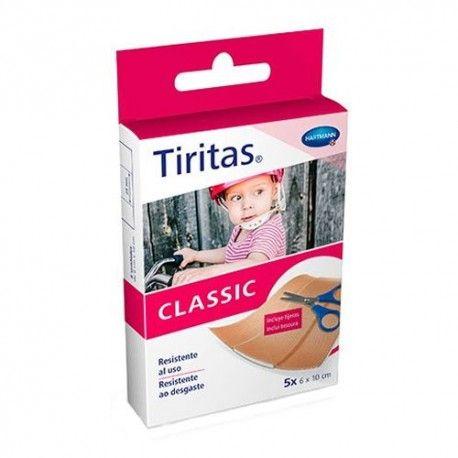 Tiritas Classic Tela 5 Unidades de 6x10 cm. + Tijeras