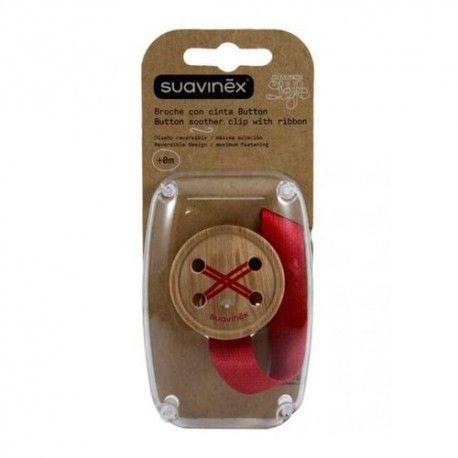 Suavinex Broche Con Cinta Button +0m