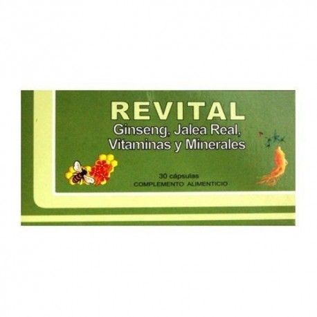 Revital Ginseng + Jalea Real + Vitamina C 30 Cápsulas