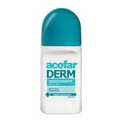 AcofarDERM Desodorante Roll On Aloe Vera y Vitamina E 75 ml.