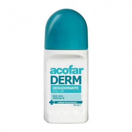 AcofarDERM Desodorante Roll On Aloe Vera y Vitamina E 75 ml.