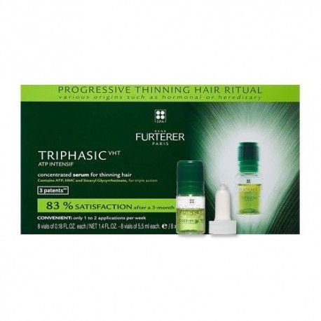 Rene Furterer Triphasic VHT ATP Intensif Sérum Regenerador Anticaída 8 Frascos