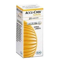ACCU-CHEK 25 LANCETAS SOFTCLIK