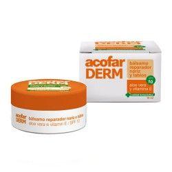 AcofarDERM Bálsamo Reparador Nariz y Labios Aloe Vera y Vitamina E SPF 10+ 10 ml.