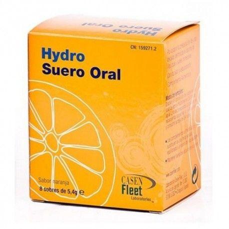 Hydro Suero Oral Sabor Naranja 8 Sobres de 5,4 gr.