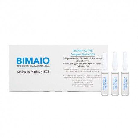 Bimaio Colágeno Marino y SOS 10 Ampollas de 2 ml.