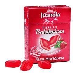 Juanola Perlas Balsámicas Sabor Fresa Mentolada Sin Azúcar 25 gr.