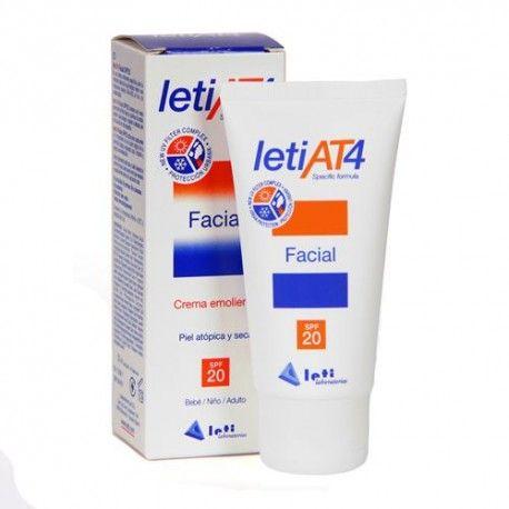 Leti AT4 Crema Emoliente Facial SPF 20+ 50 ml.