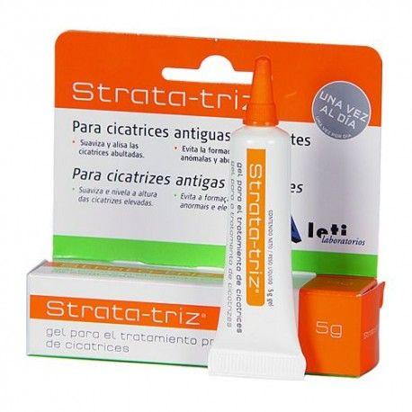 Leti Strata-triz Gel ParaTratamiento Profesional de Cicatrices Antiguas 5 gr.