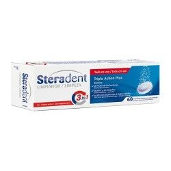 STERADENT ACTI PLUS 60 TAB.EFER LIMPIA PROTES