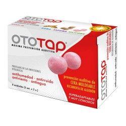 TAPONES OIDO OTO-TAP CERA R/ALGODON X 6