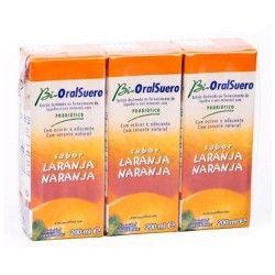 Bi-OralSuero Sabor Naranja 200 ml. Pack 3 Unidades