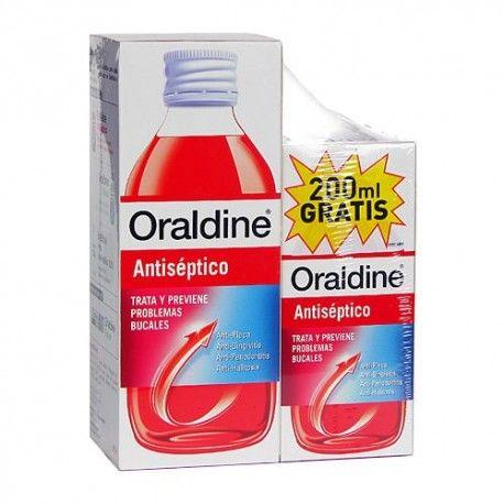 Oraldine Antiséptico 400 ml. + 200 ml. de Regalo
