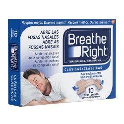 Breathe Right Tiras Nasales Pequeñas/Medianas 10 Unidades