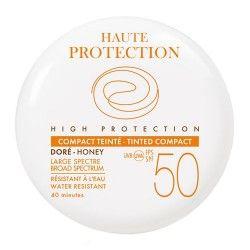 Avene Solar Maquillaje Compacto Coloreado SPF 50+ Dorado 9,5 gr.
