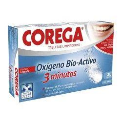 Corega Oxígeno Bio-Activo Limpieza Prótesis Dentales 30 Tabletas