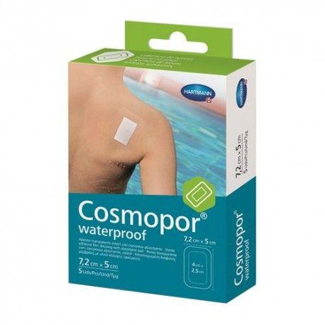 Cosmopor Waterproof Apósito Adhesivo Impermeable 7,2 cm. x 5 cm. 5 Unidades