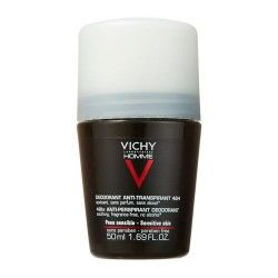 Vichy Homme Desodorante Piel Sensible Roll On 50 ml.