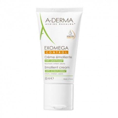 A-Derma Exomega Control Crema Emoliente Cosmética Estéril 50 ml.