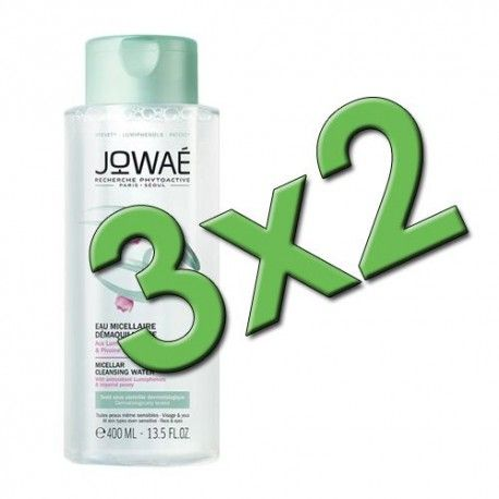 Jowaé Agua Micelar Desmaquillante 400 ml. Pack 3x2