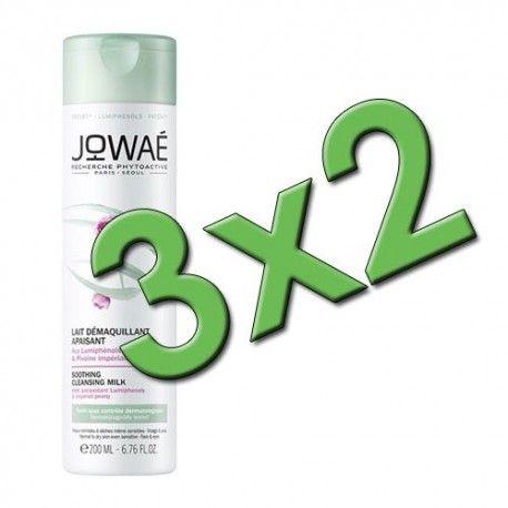 Jowaé Leche Desmaquillante Calmante 200 ml. Pack 3x2