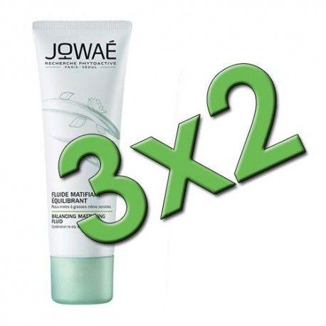 Jowaé Fluido Matificante Equilibrante 40 ml. Pack 3x2