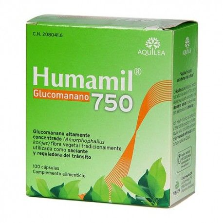 Humamil Glucomanano 750 mg. 100 Cápsulas