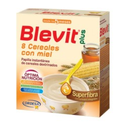 Blevit Plus Superfibra 8 Cereales Con Miel 600 gr.
