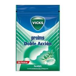 Vicks Praims Caramelos Doble Acción Eucalipto Sin Azucar 60 gr.